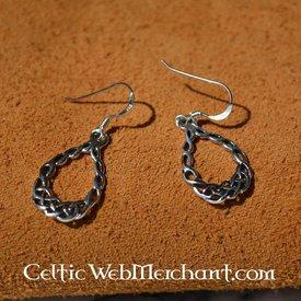 Boucles d'oreilles celtiques Travail de Noeuds, en argent