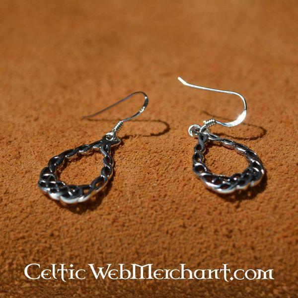 Celtic knotwork Ohrringe, Silber