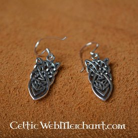 Celtic geknotete Ohrringe, Silber