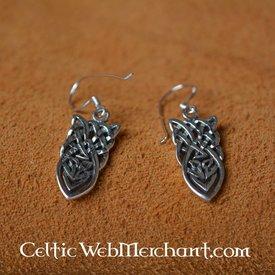 Keltisk knudrede øreringe, sølv
