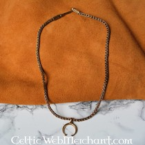 Roman lunula necklace