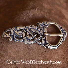 Viking buckle Midgard snake bronze