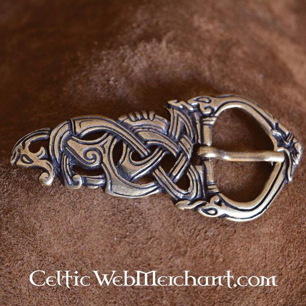 Viking spænde Midgård slange bronze