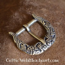 Viking buckle stylized birds