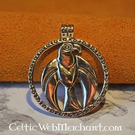Viking falcon pendant