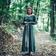 Leonardo Carbone Middeleeuwse  jurk Emma, olijfgroen