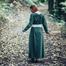 Medieval dress Emma, olive green