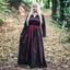 Viking klänning Lina, mörkbrun