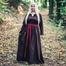 Viking kjole Lina, mørkebrun