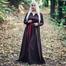 Vestido vikingo Lina, marrón oscuro