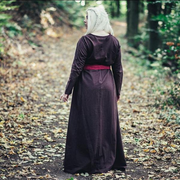 Vestito vichinga Lina, marrone scuro
