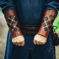 Leonardo Carbone Leren onderarmbeschermers Pius, bruin