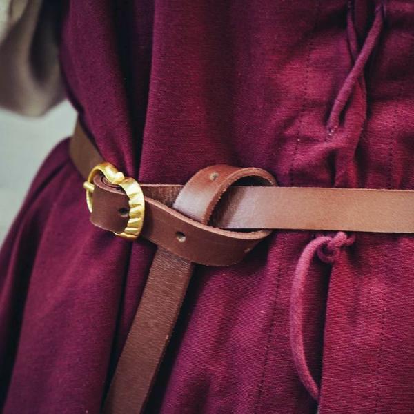 Leonardo Carbone Cintura in pelle marrone 2 cm