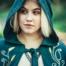 Cloak Serafina, green