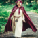 Leonardo Carbone Cloak Serafina, röd