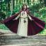 Cloak Serafina, red