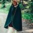 Wollen mantel Ceridwen, groen