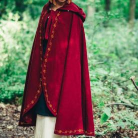 Wollen mantel Ceridwen, rood
