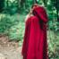 Wool cloak Ceridwen, red