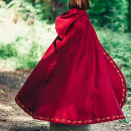 Wełniany płaszcz Ceridwen, czerwony