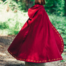 Ull kappa Ceridwen, röd
