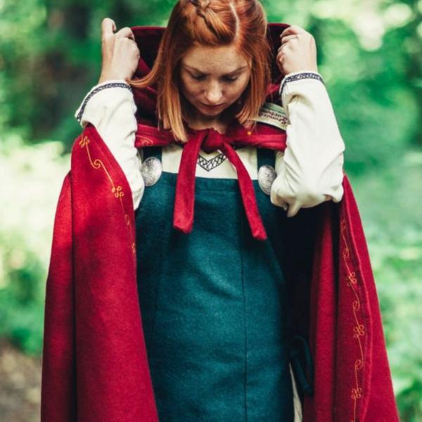 Lana mantello Ceridwen, rosso