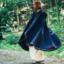 Płaszcz wełniany Ceridwen, niebieski