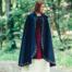 Mantello di lana Ceridwen, blu