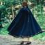 Wool cloak Ceridwen, blue