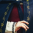 Leonardo Carbone Wollen mantel Ceridwen, blauw