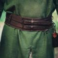 Leonardo Carbone cintura celtica Ruari, marrone scuro