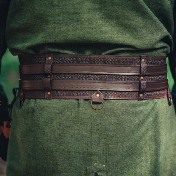 Celtic belt Ruari, dark brown
