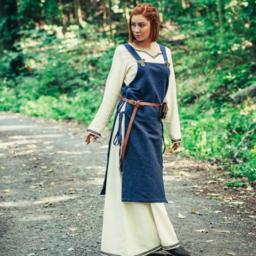 Sukienka wczesnośredniowieczna Aelswith, naturalna