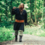 Viking tunika varg Fenrir, svart