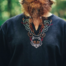 Tunica vichinga lupo Fenrir, nero