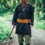 Leonardo Carbone Viking tunic wolf Fenrir, black