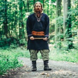 Viking tunic wolf Fenrir, black