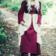 Leonardo Carbone Sen medeltida klänning Aurora, röd-naturlig
