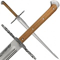 Grosses Messer con la guardia a forma di conchiglia