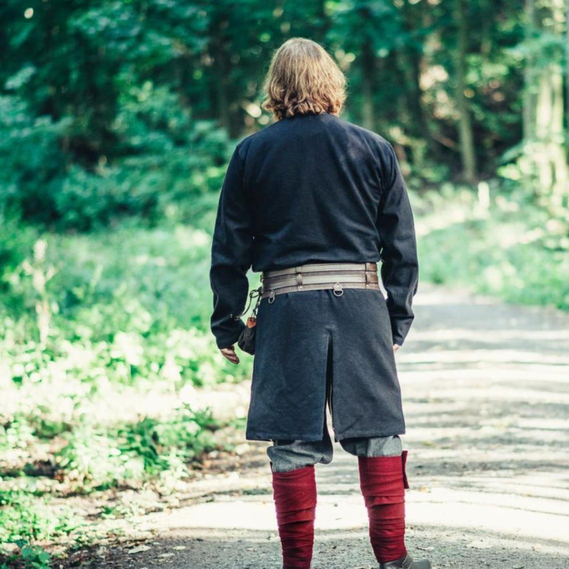 Leonardo Carbone Long Viking tunic Hvitserk, black