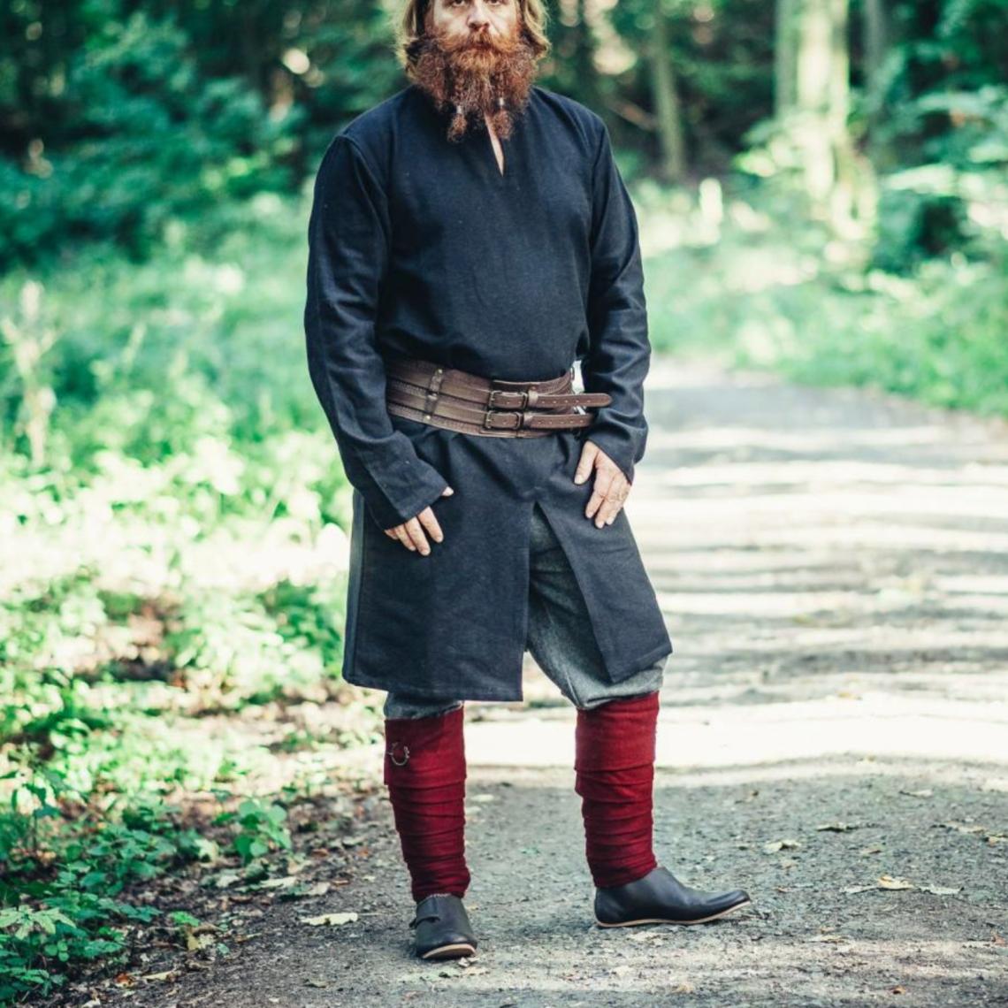 Leonardo Carbone Lange Vikingtuniek Hvitserk, zwart