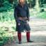 Leonardo Carbone Lang Viking tunika Hvitserk, sort