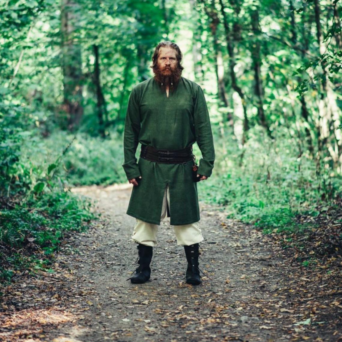 Leonardo Carbone Long Viking tunic Hvitserk, green