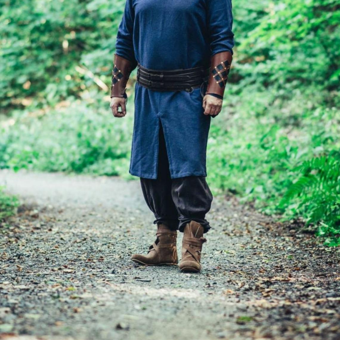Leonardo Carbone Túnica larga vikinga Hvitserk, azul