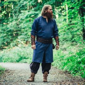Leonardo Carbone Długa tunika wikingów Hvitserk, niebieska
