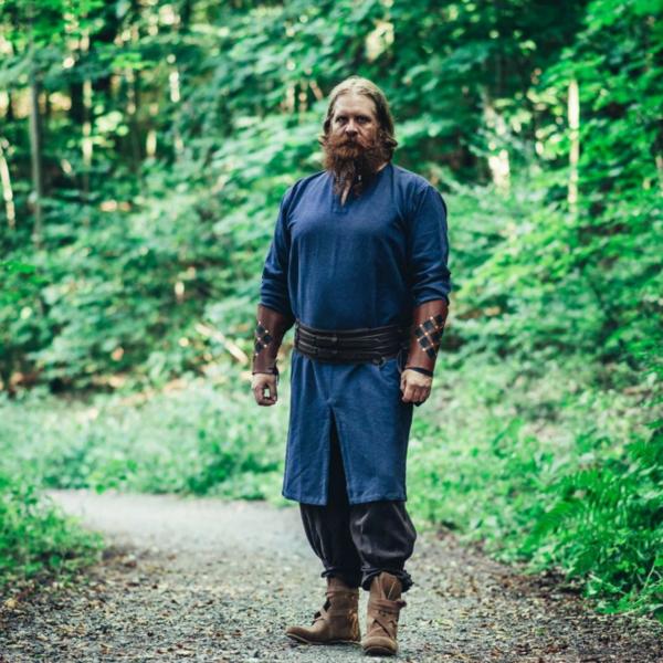 Long Viking tunic Hvitserk, blue