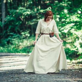 (Tidig) medeltida klänning Brida, naturlig