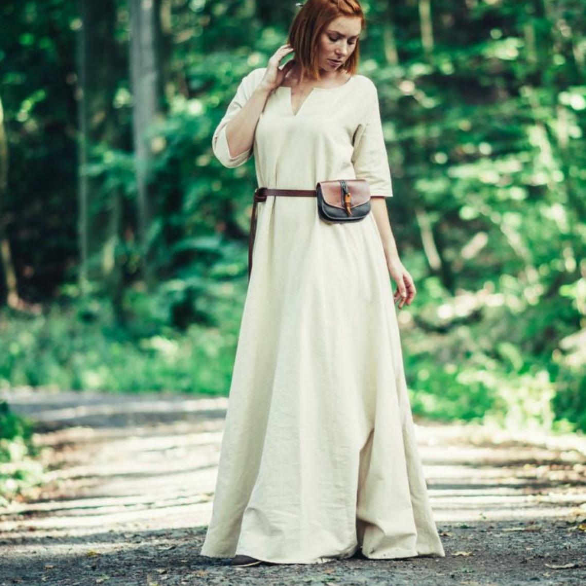 Leonardo Carbone (Wczesna) średniowieczna sukienka Brida, naturalna