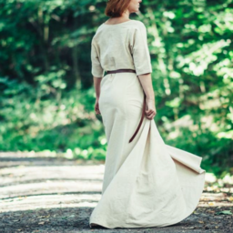 (Early) medieval dress Brida, natural