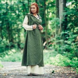 Vestido cruzado Thyra, verde